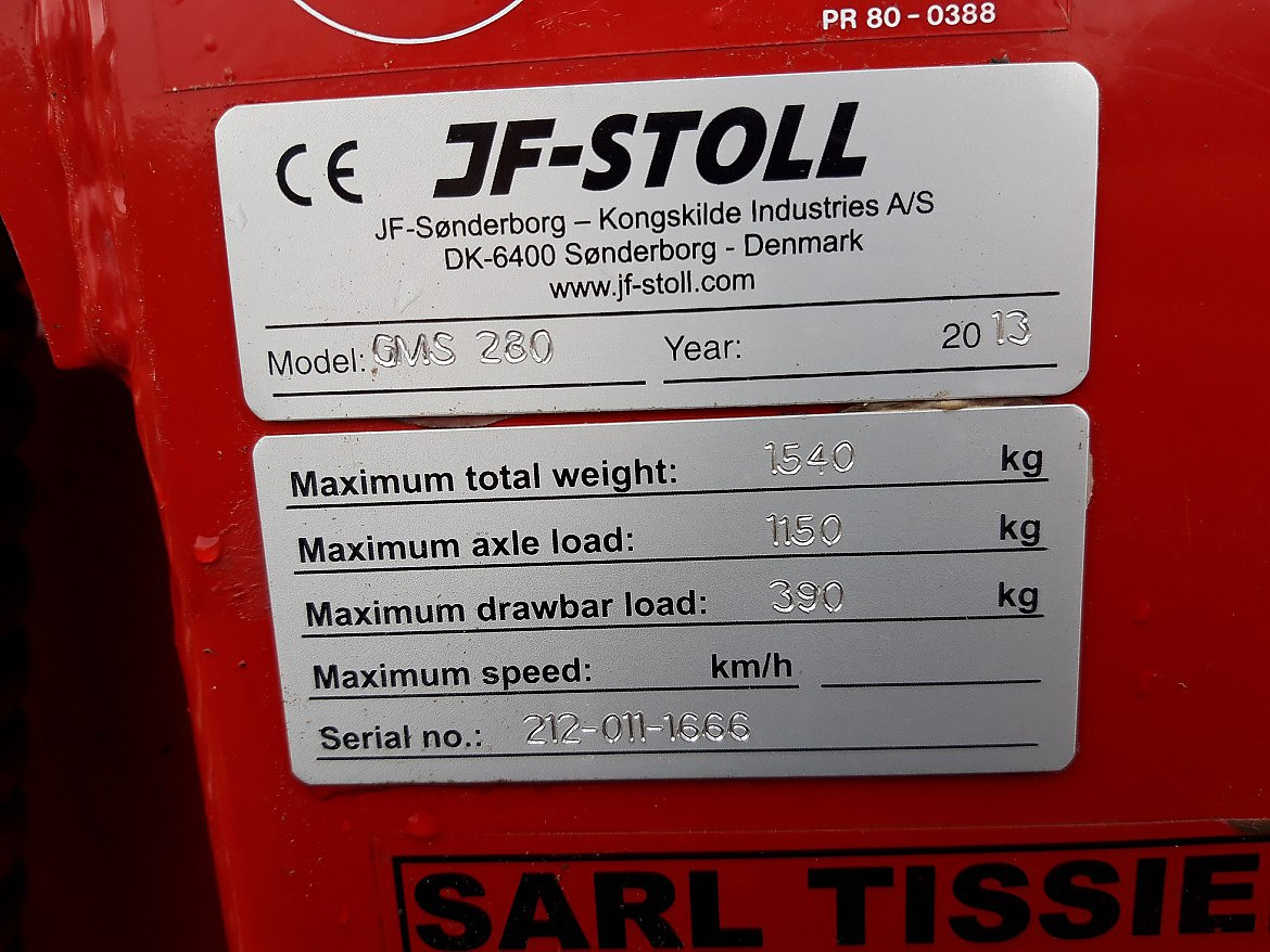 FAUCHEUSE JF STOLL GMS 280