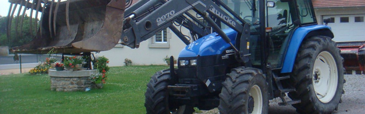 TRACTEUR New Holland TS 100 + CHARGEUR